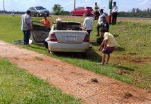 automóvil que sufrió daños materiales
