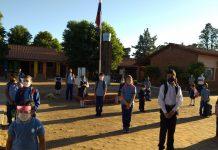 Inicio de clases presenciales escuela y colegio Margarita Cabral de San Juan Nepomuceno